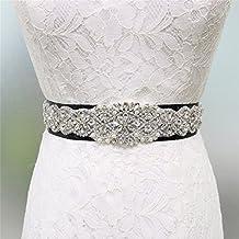 Zda Elegante Vestido de Boda de Cristal Perla cinturón Novia Rhinestone Sash Applique/8 Opciones