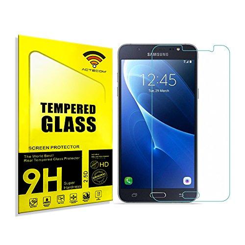 ACTECOM® Protector Pantalla Compatible para Samsung Galaxy J7 J710F 2016 Cristal Vidrio Templado