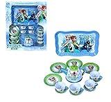 IndusBay® Tea Party Play Set Luxurious 15 Piece Tin Tea Set with Teapot