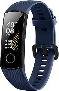 HONOR Band 5 Smartwatch, Activity Tracker Braccialetto per Uomo Donna, impermeabile, IP68, con cardiofrequenzimetro, monitoraggio dell'attività sportiva, fitness tracker con pedometro, Blu