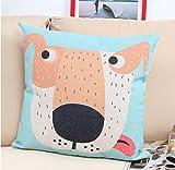 philna1245,7x 45,7cm Dekorative Kissenbezug, quadratisch Sofa Überwurf Kissenbezüge (Big Dog Muster)