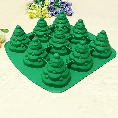 + ING 3D Weihnachtsbaum Kuchenform Silikon Cookie Schokolade Backen Form