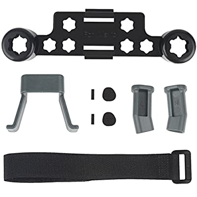 Taotree Landing Gear Height Extender Kit for DJI Mavic Pro Drone Part Accessories and Transmitter Joystick Protector with Velcro Strap for Remote Controller (Mavic Pro and Remote Controller Not Included) (Landing Gear + Transmitter Protector + Velcro Stra