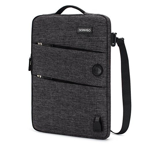 DOMISO 14 Zoll Wasserdicht Laptophülle mit USB Ladeanschluss Headphone Port Laptop Tasche für Acer Aspire 1 Swift 3/HP Stream 14 Pavilion 14/14
