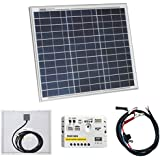 30W 12V Photonic Universe solar power kit with 5A charge controller and battery cables for a motorhome, caravan, camper, boat or any 12V system (30 watt)