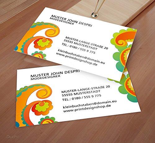 Visitenkarten - Online gestalten! Despri Design VK029, Bunt, einseitig bedruckt, 100 Stück
