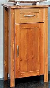 unterschrank badezimmer schrank massivholz kiefer massiv honigfarben lackiert badschrank amazon. Black Bedroom Furniture Sets. Home Design Ideas