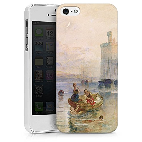 Apple iPhone X Silikon Hülle Case Schutzhülle Carnarvon Castle Wales Kunst Hard Case weiß