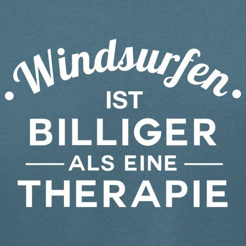 Windsurfen ist billiger als eine Therapie - Damen T-Shirt - 14 Farben Indigoblau