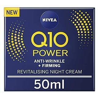 Nivea – Crema de noche reafirmante y antiarrugas Nivea Q10 Power (50 ml), crema antienvejecimiento con creatina y Q10, crema de noche hidratante para mujer, reduce la aparición de arrugas