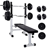 CCLIFE Multifunktion Hantelbank set mit 110kg Hantelset, Trainingsbank - Best Reviews Guide