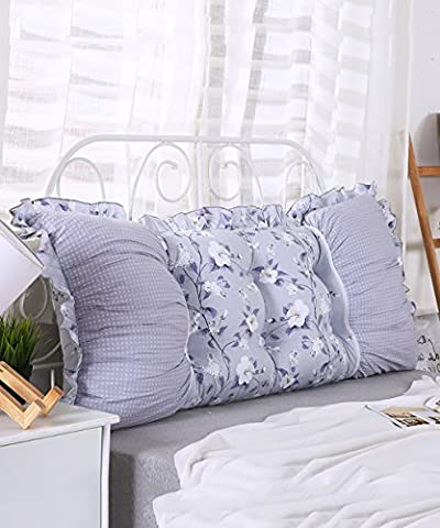 CAIJUN European Style Soft Bedside Support Cushion Soft Bag Pillow Detachable Buttons-Twin Size/ Full Size/ Queen Size/ King Size Stereo cushions ( Color : 5* , Size : 150*15*55CM )