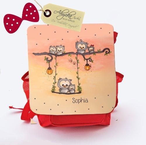 ilka parey wandtattoo-welt Kindergartentasche Kindergartenrucksack Kindertasche Kinderrucksack mit Eulen auf der Schaukel Sommerabend Eulen...