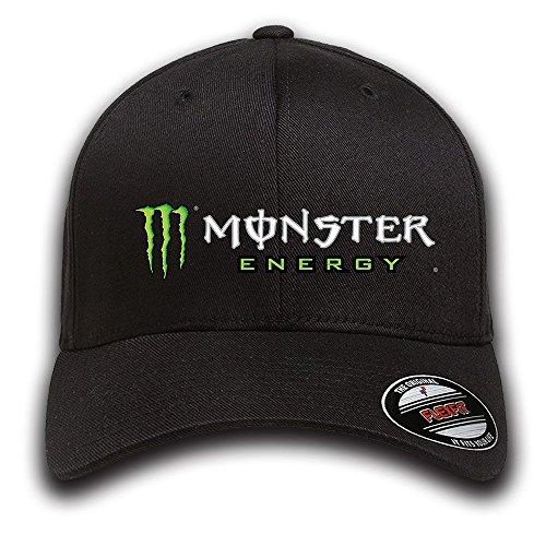 M Energy Baseball Caps Herren Accessoires Hüte, Mützen & Caps Sports Cap Outdoors Cap Snapback Hat Fashion Cap Hip Hop Fitted Cap (Hiphop Monster Cap)