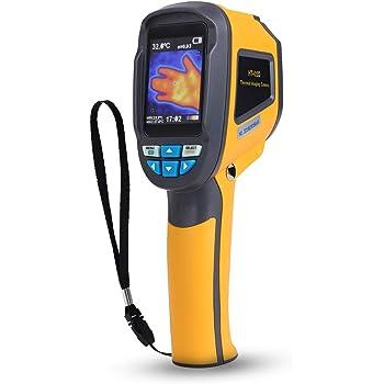 Akozon Termocamera HT-02D, Termocamera Portatile a Raggi Infrarossi (IR) Professionale Palmare Termometro Thermal Imager Dispositivo a Infrarossi Imaging con Risoluzione IR 1024Pixels e Intervallo di