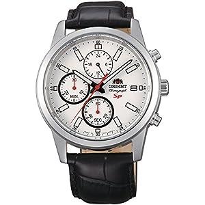 Orient Reloj Cronógrafo para Hombre de Cuarzo con Correa en Cuero FKU00006W0