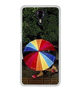 Multicolour Umbrella 2D Hard Polycarbonate Designer Back Case Cover for Micromax Canvas Xpress 2 E313