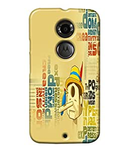 Fuson Meaningful Text Back Case Cover for MOTOROLA MOTO X2 - D3979