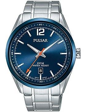 Pulsar Herren-Armbanduhr Sport Analog Quarz Edelstahl PS9515X1
