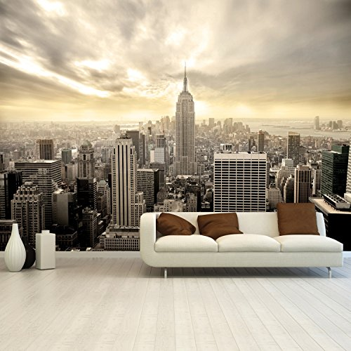 Papier peint photo mural New York Shining Manhattan 366 x 254 cm Deco.deals, brosse à encoller:mit Bürste / with glue brush