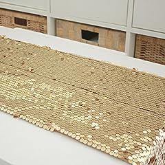Idea Regalo - DXG&FX minimalista moderno tavolino bandiera paillettes caffè tavolo tovaglia Elegante letto corridore-B 30x220cm(12x87inch)