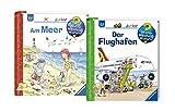 Ravensburger Junior Bücher Set - Wieso? Weshalb? Warum? Der Flughafen und Am Meer