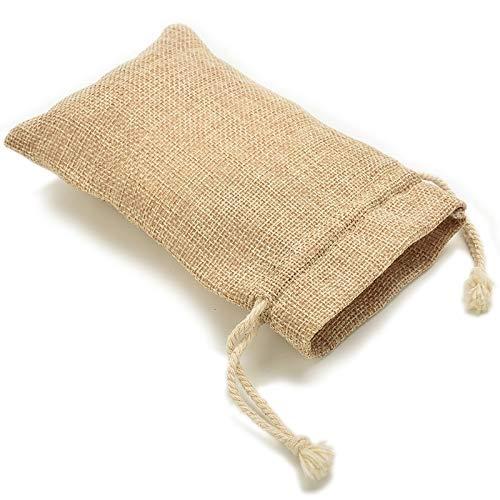 Bags & Wrapping Supplies - Handmade Burlap Jute Drawstring Bags Candy Storage Wedding 7x12cm - Jute Bag Bag Gift Supplies Candy Gift Pack Gift Gift Cotton Bag Burlap Wrapping Glitter Box Box Rhi Plain Cake Box