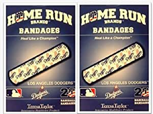 LA Dodgers Bandages x 2 box (total 40 pcs) by Home Run Brand