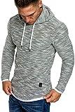 Amaci&Sons Herren 2in1 Kapuzenpullover Hoodie Sweater Pullover Sweatshirt 4013 Grau S
