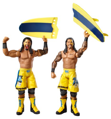 Mattel Wwe Wwe Series #28 Jimmy Uso And Jey Uso Figure With Surfboard