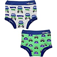 Ez Undeez Toddler Potty Training Pants with Padded Layer, Monster Trucks-Cars