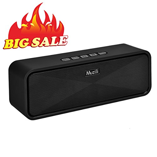 Altavoz Bluetooth muzili Portable Outdoor Car Stereo Subwoofer Altavoz con manos libres/3,5 mm AUX port/U Disk/TF Card Slot