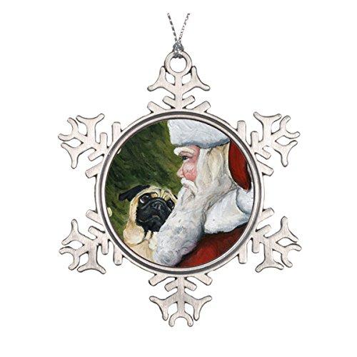 Daily Lady Hundefigur Mops und Weihnachtsmann -