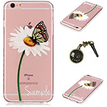 Laoke - Carcasa de silicona para teléfono móvil iPhone 6Plus y 6S Plus de Apple (5,5pulgadas) + conector antipolvo marrón 7
