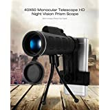 amiciVision 40X Monocular Telescope Mobile Phone Camera Lens Tripod for All Mobile