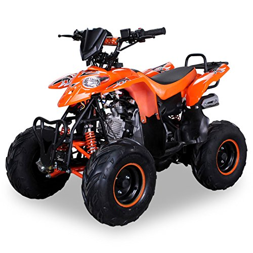 Kinder Quad S-5 Polaris Style 125 cc Motor Miniquad 125 ccm Razer orange