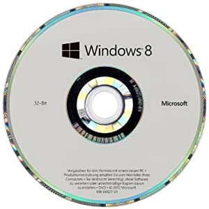 Windows 8 OEM 32 Bit Vollversion (Frustfreie Verpackung)