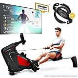 Sportstech RSX500 Rowing Machine – German Quality Brand – Video Events & Multiplayer APP – incl. heart rate monitor (worth: £39,90) 16 programs – magnetic resistance – competition mode – foldable