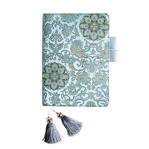 YWHY Notizbuch Stickerei Cover Notebook,Kreatives Tagebuch, Chinesischen Stil Stickerei, Bullet Journal Agenda ÄsthetischeNotizbuch, A5 A6 -