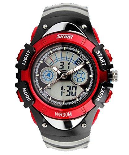 ufengke® exquise bracelet montre créative multifonctionnel imperméable pour enfants filles, montre électronique à quartz à la mode un bracelet, rouge