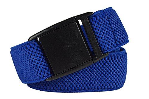 Olata Elastic Belt for Men / Women with Plastic Buckle, fully adjustable. Royal blue