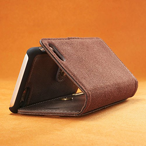 iPhone 5 5S SE, custodia e portafoglio , sfoderabile custodia Protettiva copertura eccellente in pelle , magnetica rimovibile retrò custodia Grigio Grigio
