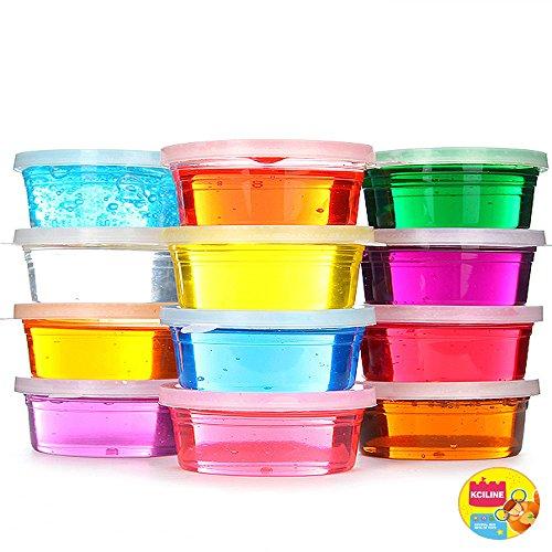 Preisvergleich Produktbild Crystal Clay Slime Putty für Kinder Bildungs-Spielzeug Art Set Geschenke Spielzeug (Pack von 12 Töpfe, 12 Farbe insgesamt  DIY Toys
