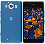 mumbi Schutzhülle für Microsoft Lumia 950 Hülle transparent blau