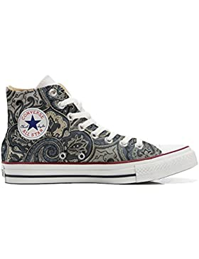Converse All Star Customized - zapatos personalizados (Producto Artesano) Blue Paisley