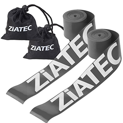 Ziatec Flossing Kompressions-Bandage, Premium-Flossing Voodoo Band, Floss Band, 0,8 mm - 1,5 mm, Farbe:2 x grau (1.2mm)
