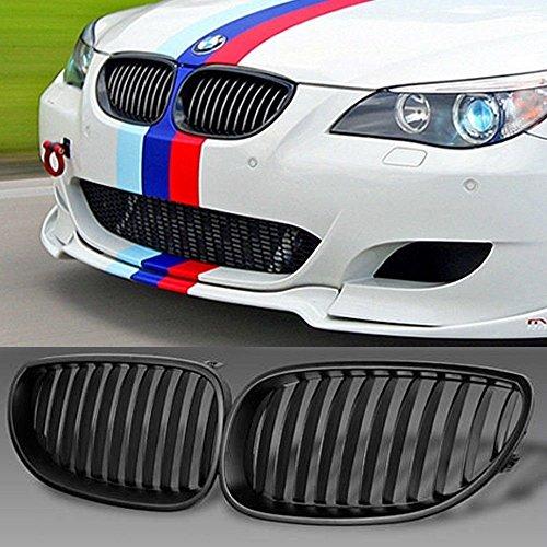 Dqdz Griglia a rene, ampia, sportiva, per parte anteriore di auto, nera e opaca, confezione da 1 coppia