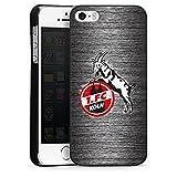DeinDesign Apple iPhone 5s Hülle Case Handyhülle 1. FC Köln Metall Look Fussball
