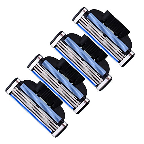 4x-lama-lame-lamette-rasoio-gillette-mach-3-cartuccia-ricambio-acciaio-inox