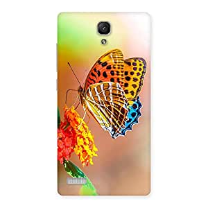 Stylish Queen Butterfly Back Case Cover for Redmi Note Prime